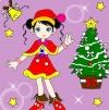 เกมระบายสีสาวคริสต์มาส